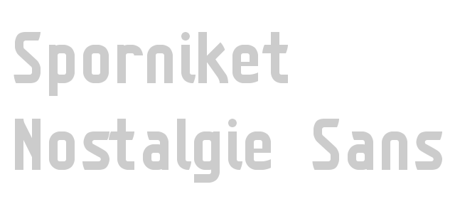 Sample of the typeface with a 150 pixels height